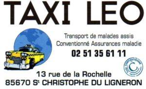 Carte Visite Taxi Léo